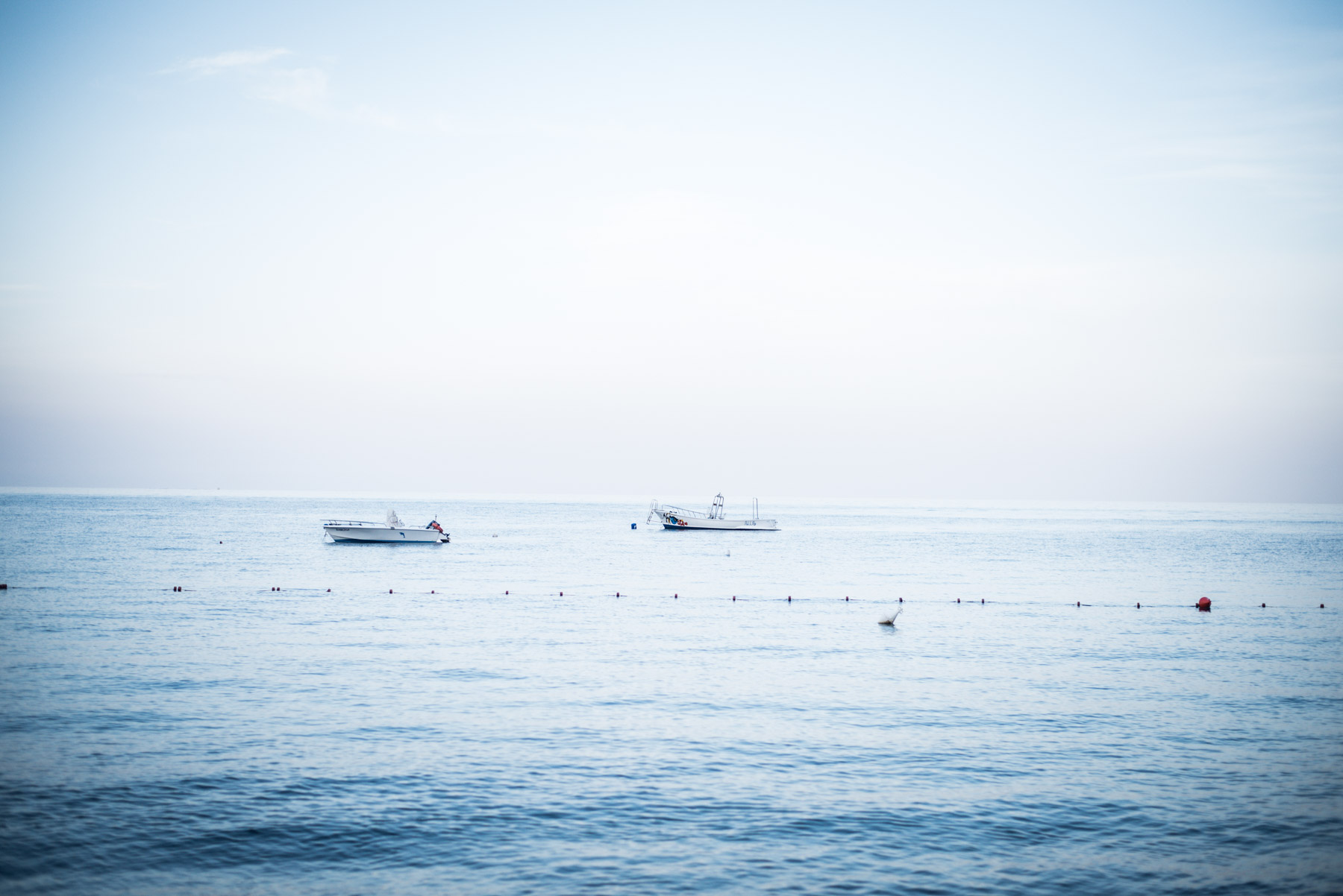 boats fishing in the sea of the aeolian islands