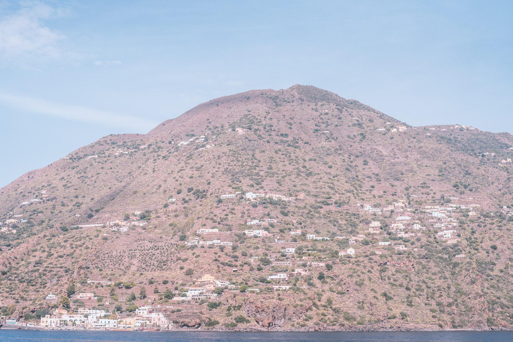 lipari, salina, vulcano, stromboli, alicudi, filicudi, panarea are the small aeolian islands with few white houses