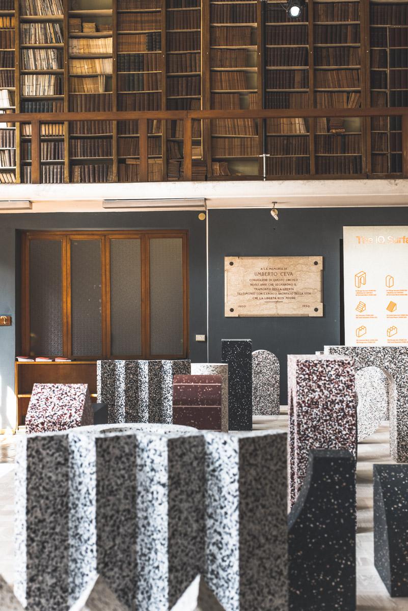 Design pieces in the Circolo Filologico Milanese during Fuorisalone Milan Design Week 2019