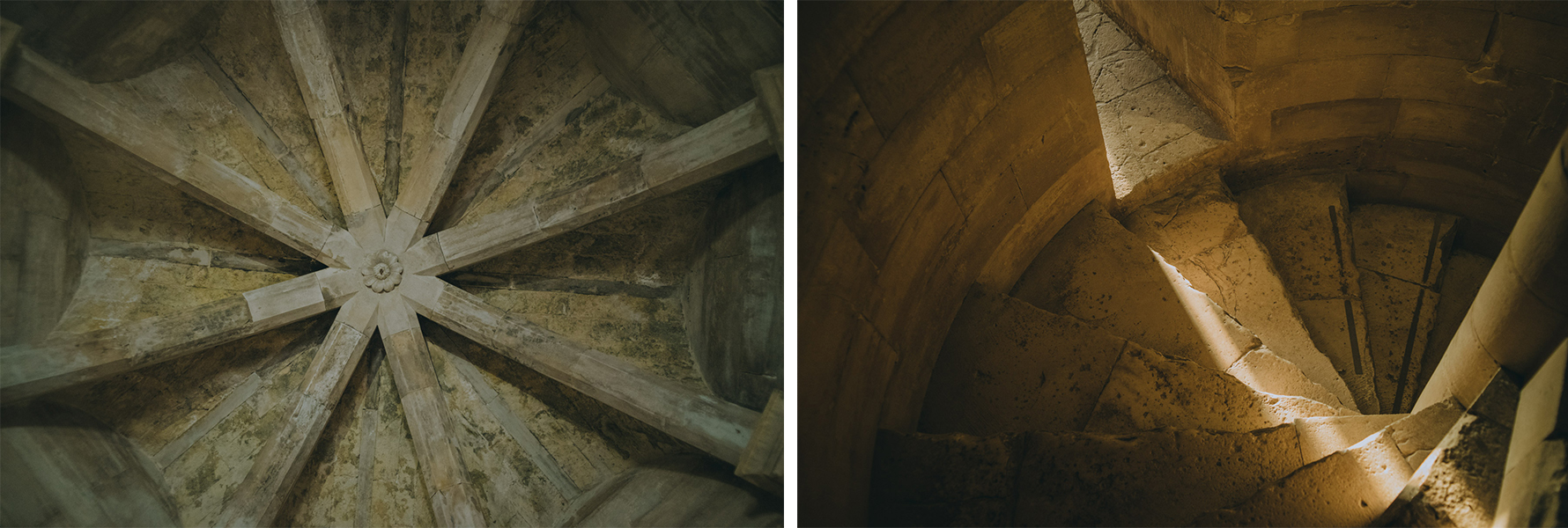 Details of the ceilings of Castel del Monte in Apulia Itlay - Due dettagli dei soffitti di catel dem Monte in Puglia, Italia