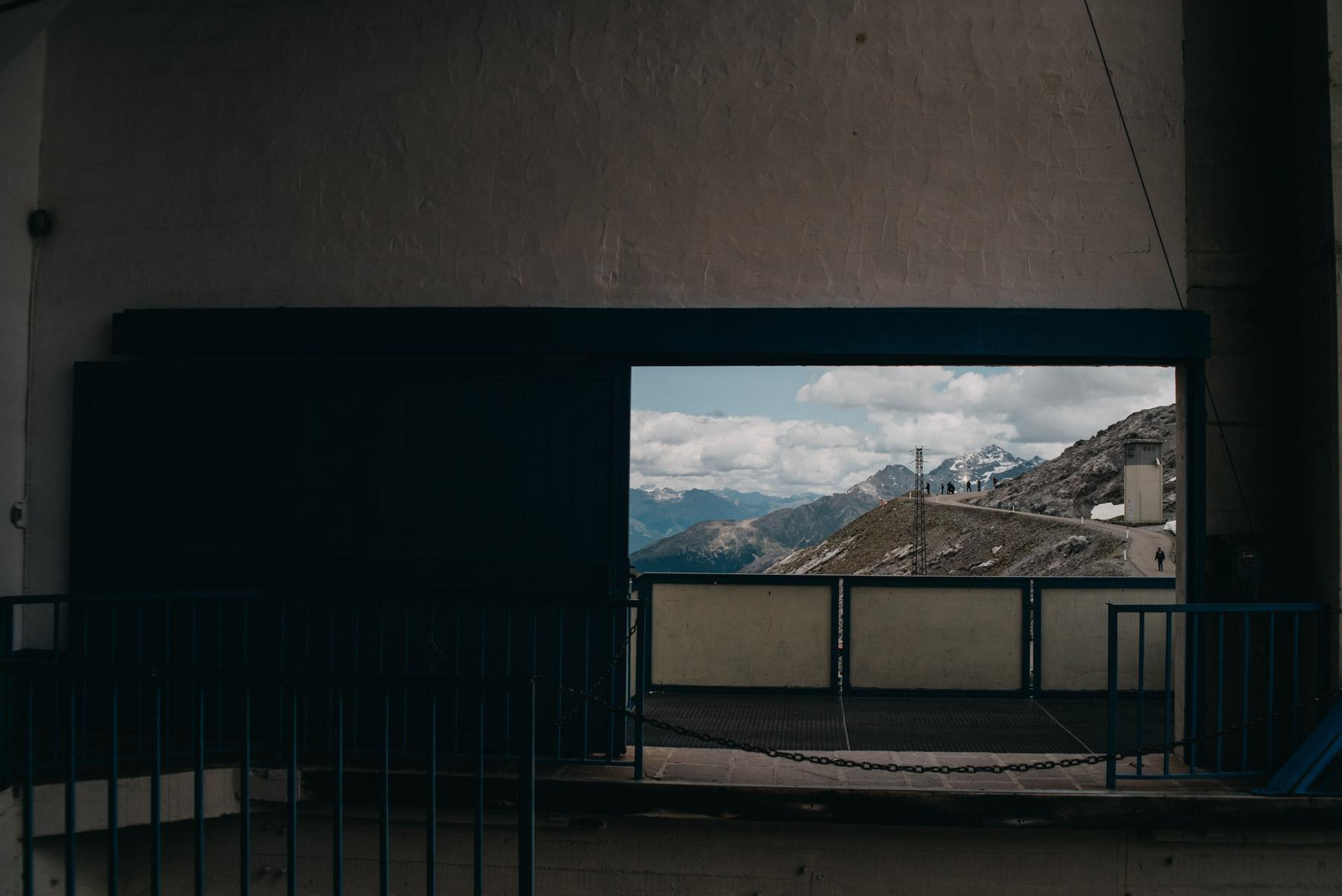 Funivia sul passo dello Stelvio, cableway on the Stelvio pass