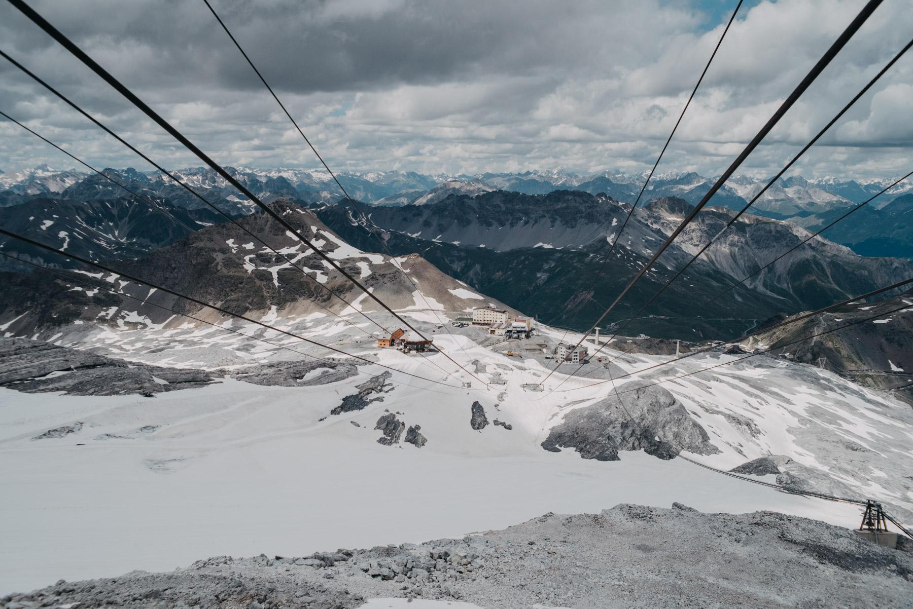 Summer snow on the mountains near the Stelvio pass, Neve estiva sulle montagne del passo dello Stelvio