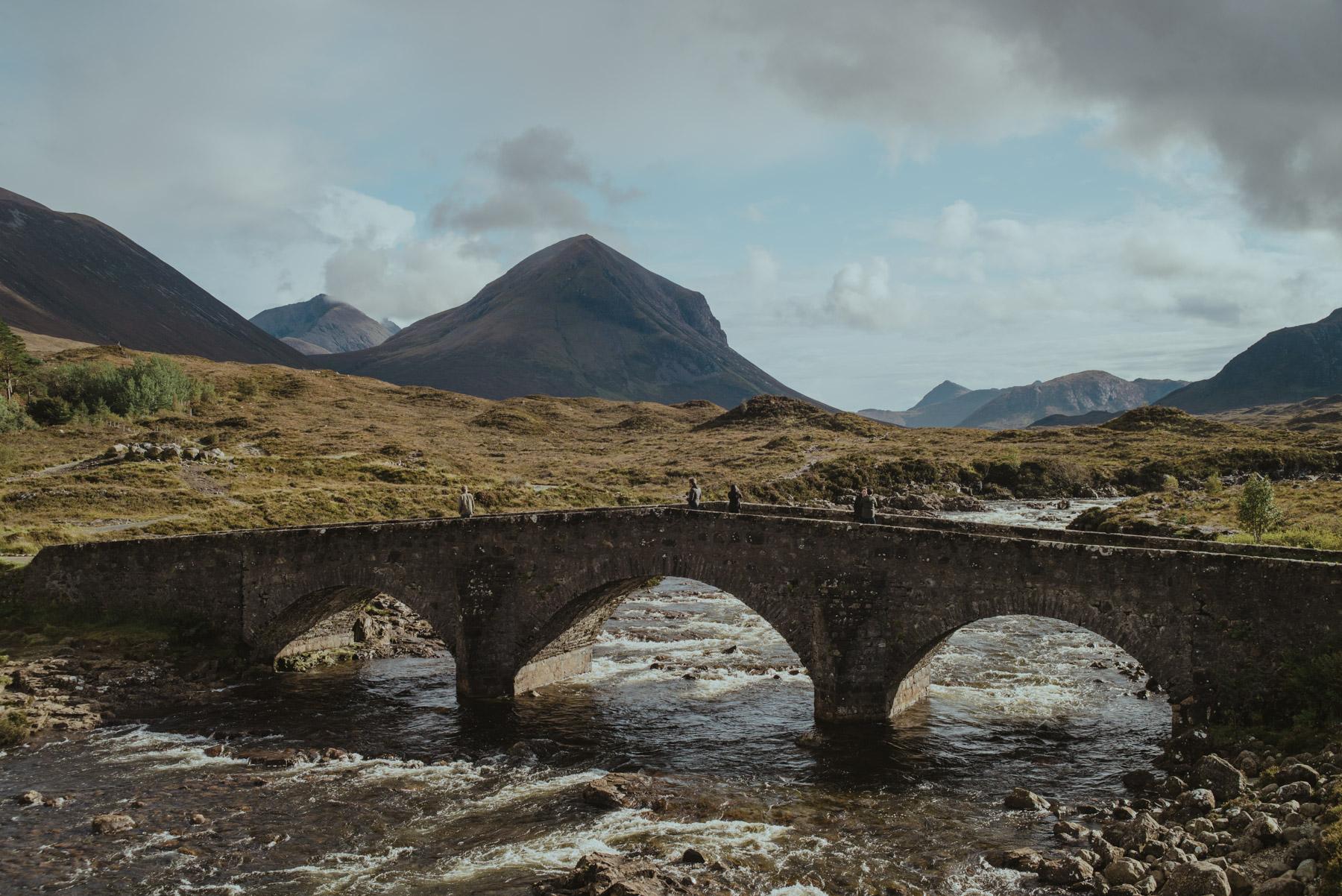 Scottish Highland and ancient Roman bridge
