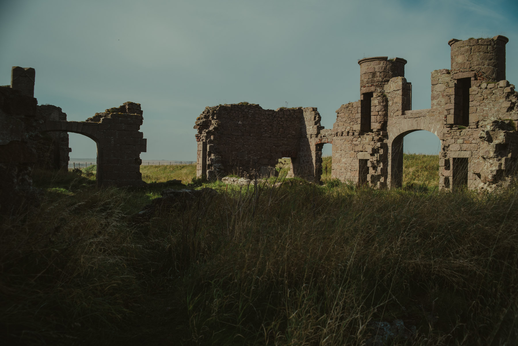 Ruins of a Scottish castle, rovine di un castello scozzese